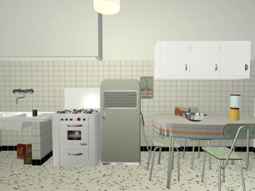 Muvi museo virtuale della vita quotidiana - Cucina americana anni 50 ...